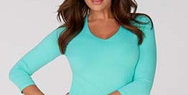 Judy P V-Neck 3/4 Sleeve Top