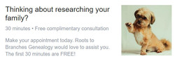 Thinking about researching your family?