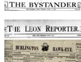 Burlington-Hawkeye,-Leon Reporter-Bystander-newspaper-headings.png