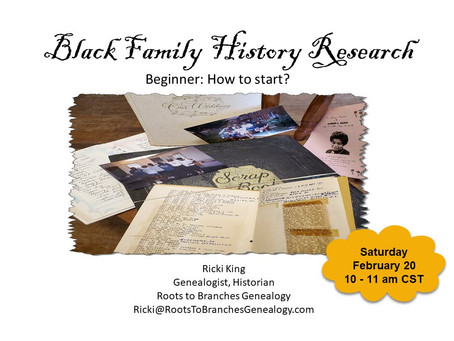 Family History Research Beginner Presentation