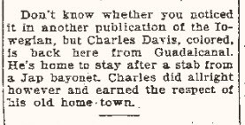 Uncle Charlie returned home in 1943