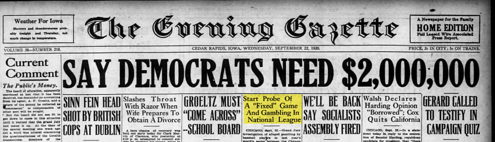 The-Evening-Gazette-headlines-1920
