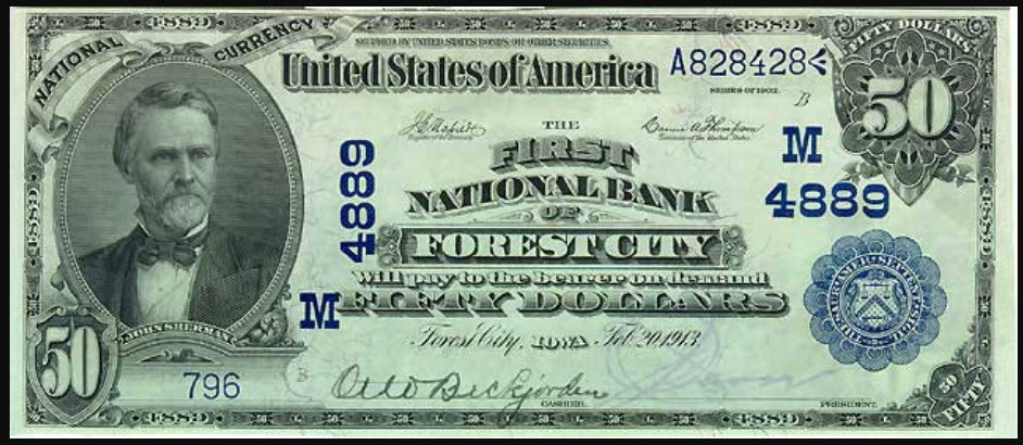 Forest-City-Iowa-Bank-Note-front