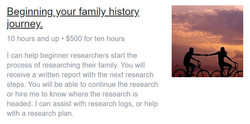 Beginning your family history journey.