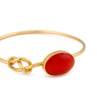 Prata Concept pulseira pedra vermelha