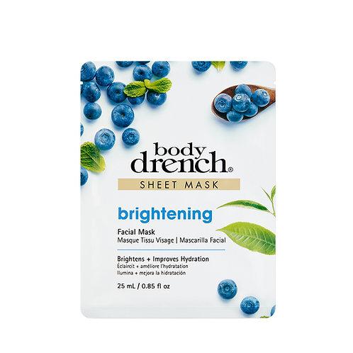 Body Drench-brightening sheet mask 藍莓白茶美白天絲面膜