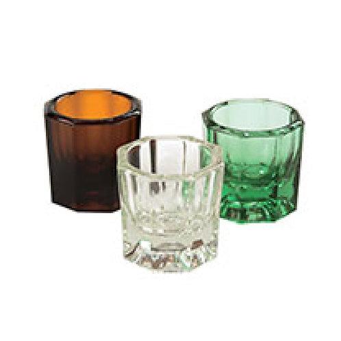 glass dappen dish & cover 玻璃器皿&金屬蓋