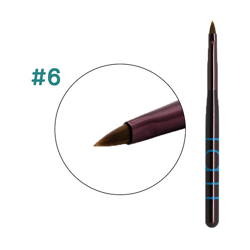 Tati-#6 blue brush 雕花筆