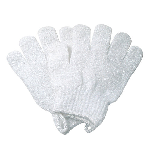 white exfoliating gloves 磨砂手套
