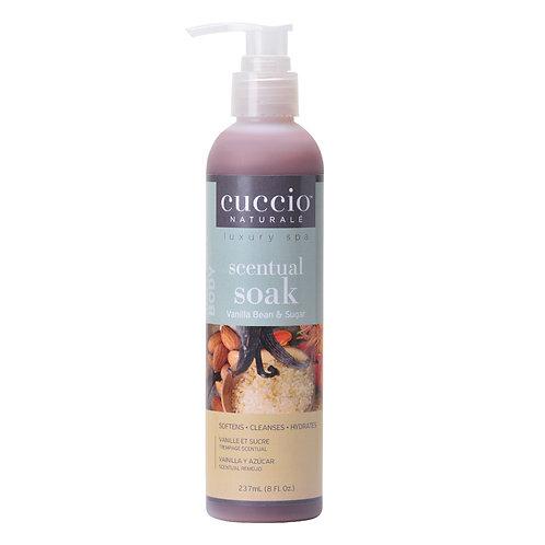 Cuccio-vanilla bean & sugar scentual soak 香草豆滑糖3合1潔膚液