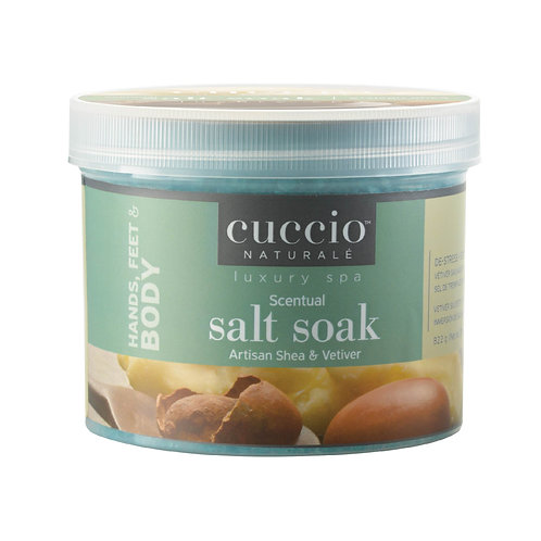Cuccio-artisan shea & vetiver salt soak 乳木果岩蘭草排毒殺菌浴鹽