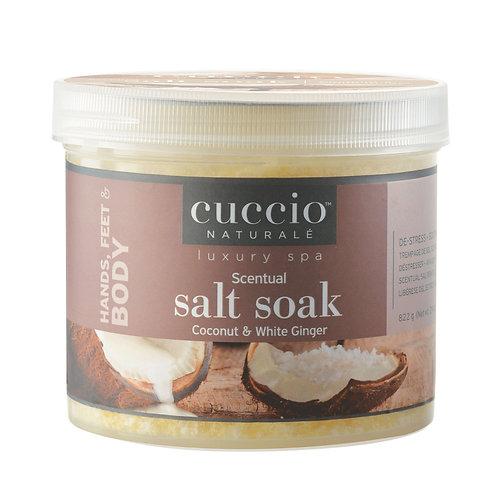 Cuccio-coconut scentual salt soak 椰香排毒殺菌浴鹽