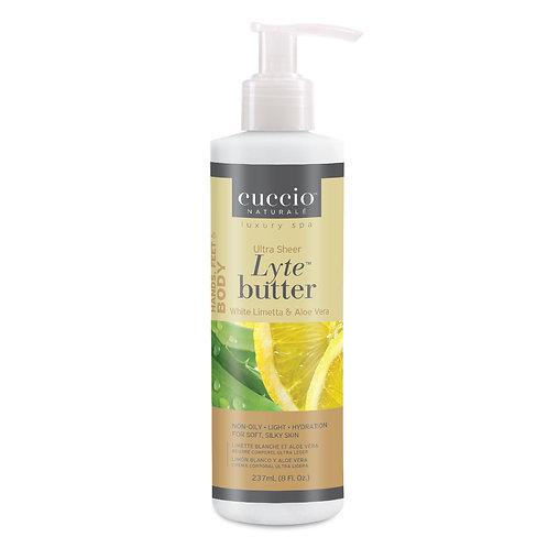 Cuccio-Lyte white limetta & aloe vera ultra sheer body butter 白檸蘆薈身體乳霜