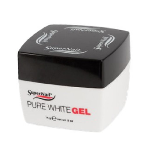 Super Nail-pure white gel 法式白邊造型漿