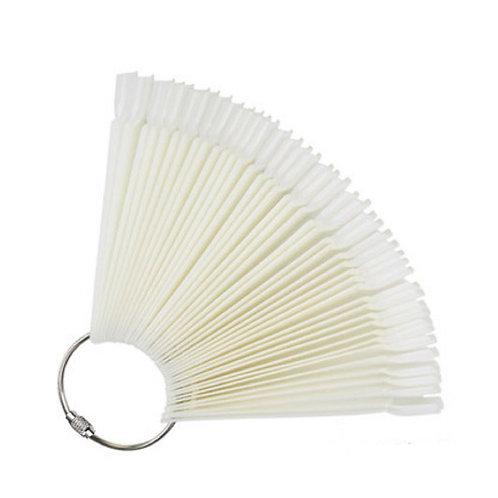 clear nail tips fan 扇形甲片(50片) 自然色/透明色