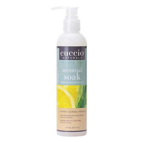 Cuccio-white limetta & aloe vera scentual soak 白檸蘆薈3合1潔膚液