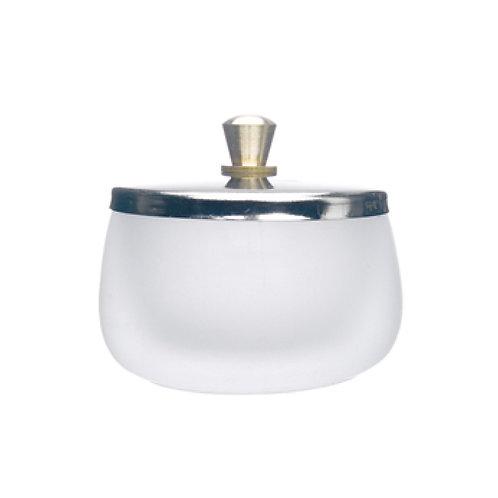 large dappen dish white lid 玻璃器皿連蓋