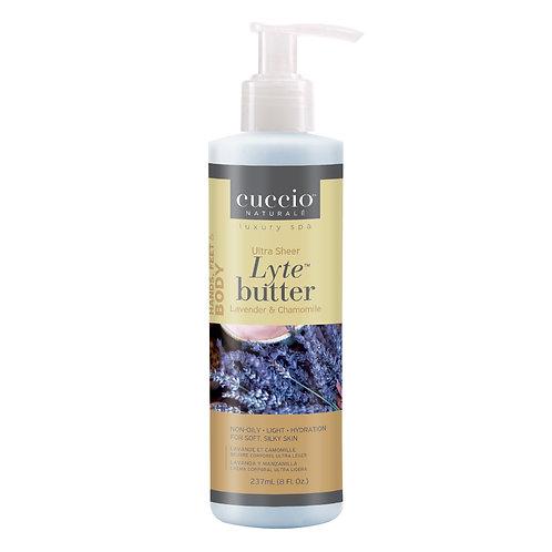 Cuccio-Lyte lavender & chamomile ultra sheer body butter 薰衣草黄甘菊身體乳霜