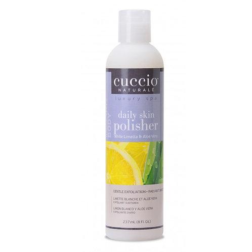 Cuccio-white limetta & aloe vera daily skin polisher 白檸蘆薈幼珠磨砂