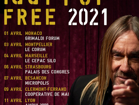IGGY POP FREE TOUR 2021