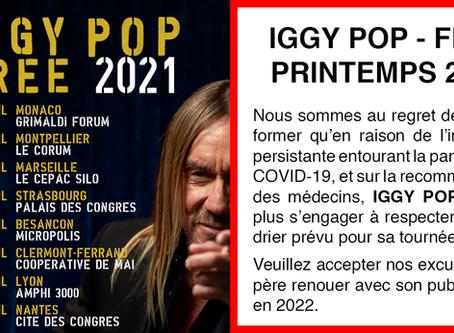 IGGY POP - PRINTEMPS 2021 ANNULÉ