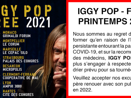 IGGY POP - PRINTEMPS 2021 ANNULÉ
