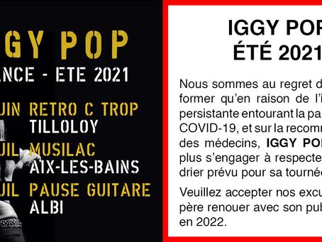 IGGY POP - ÉTÉ 2021 ANNULÉ
