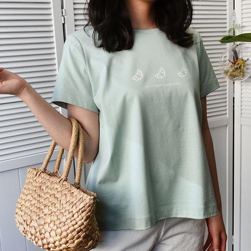 クロワッサンプリントTシャツ