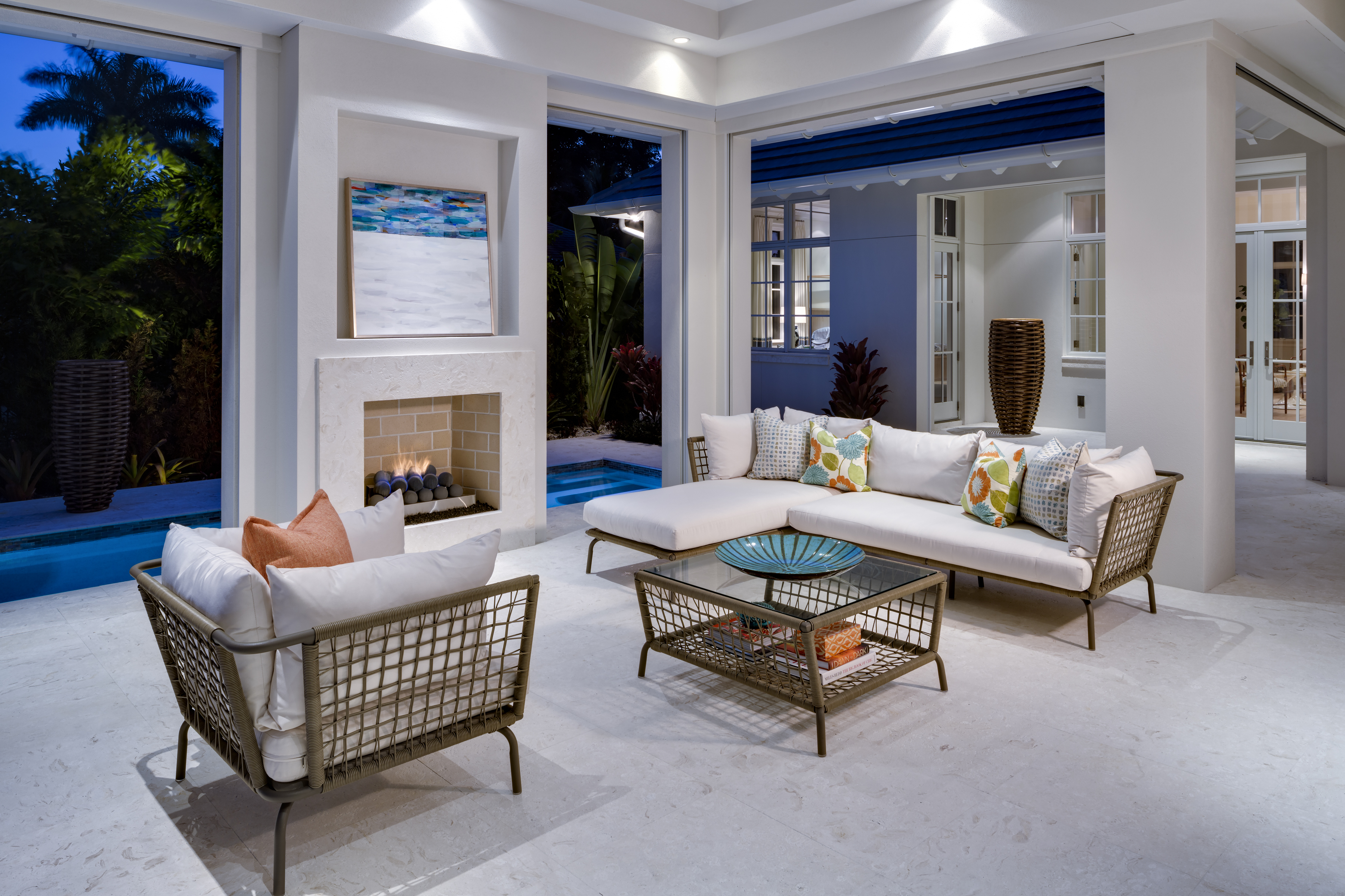 Jeffrey Fisher Home Luxury Interior Design Imagined Home Decor Outdoor Living Room Lanai