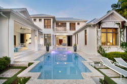 Jeffrey Fisher Home Luxury Interior Design Imagined Home Decor Naples Exterior Pool and Spa