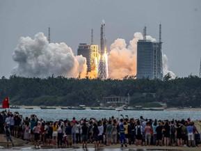 China contó qué pasará con el cohete descontrolado: Salta entre las zonas de riesgo