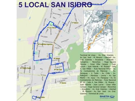 Desde el 2 de agosto nuevamente entrará en funcionamiento el servicio de colectivos Local 5 Cerrillo