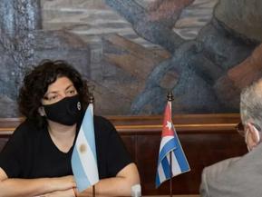 Vizzotti se reunió con funcionarios cubanos para conocer sobre el desarrollo de vacunas en ese país