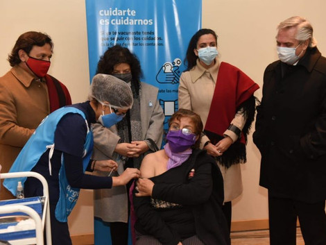 El gobernador Sáenz y el presidente Fernández recorrieron el Centro de Recuperación Covid-19