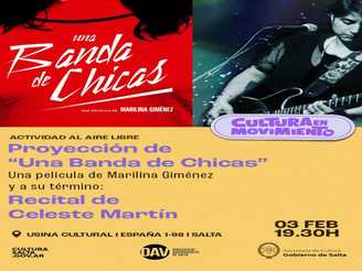 "Proyectan la película ""Una Banda de Chicas"" en la Usina Cultural"