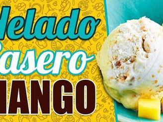¿Cómo preparar un helado de mango casero?