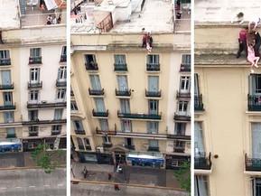 #BsAs Dramático rescate de una mujer que intentó suicidarse en Recoleta