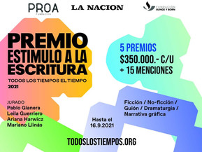 Abre la convocatoria a la segunda edición del Premio Estímulo a la Escritura