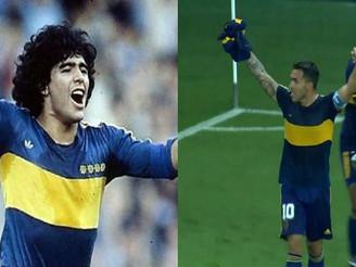 """Tevez: """"En el gol le hice un homenaje a Maradona con la camiseta del 81 que me regaló"""""""