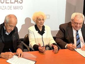River y Boca firman histórico acuerdo con Abuelas de Plaza de Mayo