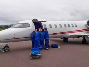 De enero a junio se efectuaron más de 200 operaciones sanitarias aéreas