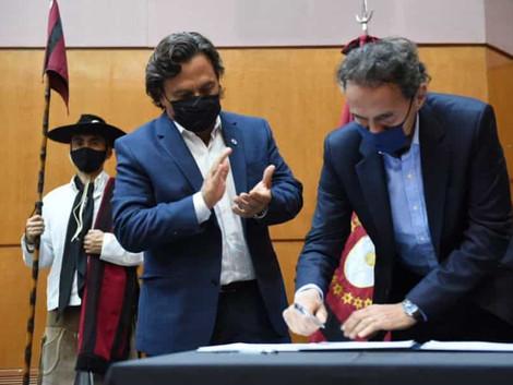 Sáenz y Katopodis acuerdan proyectos para dotar de infraestructura hídrica en San Martín
