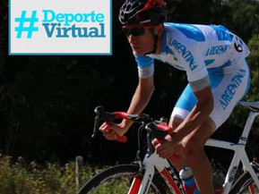 El ciclista Juan Salas participará del ciclo Deporte Virtual