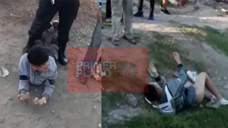 BsAs Desnudan y entregan a la policía a dos ladrones tras un robo
