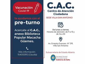 Los centros de Atención Ciudadana también brindan preturnos para vacunación COVID-19
