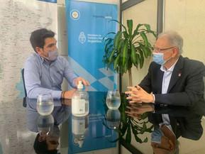 El secretario de Deportes se reunió con autoridades del Gobierno Nacional