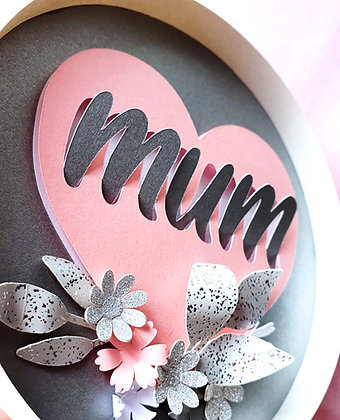 Grey And Pink Mother's Day Wall Hanging