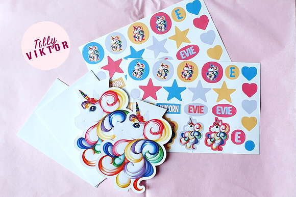 Unicorn Card and Sticker Pack