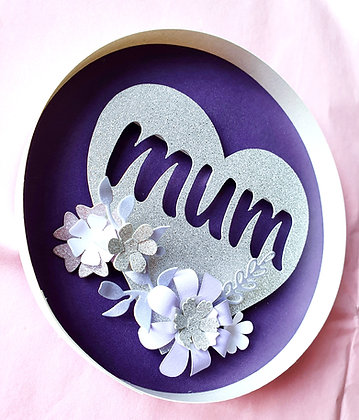 Indigo And Silver Mother's Day Wall Hanging