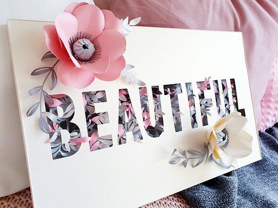 Beautiful Floral Paper Sculpture